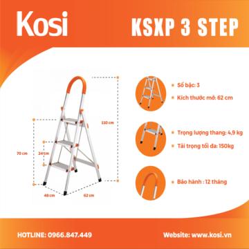 Thang ghế inox KSXP – 3 STEP