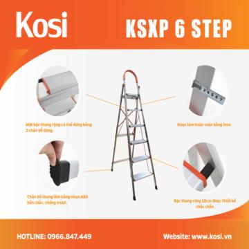 Thang ghế inox KSXP – 6 STEP