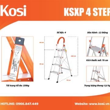 Thang ghế inox KSXP – 4 STEP