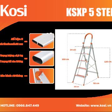 Thang ghế inox KSXP – 5 STEP