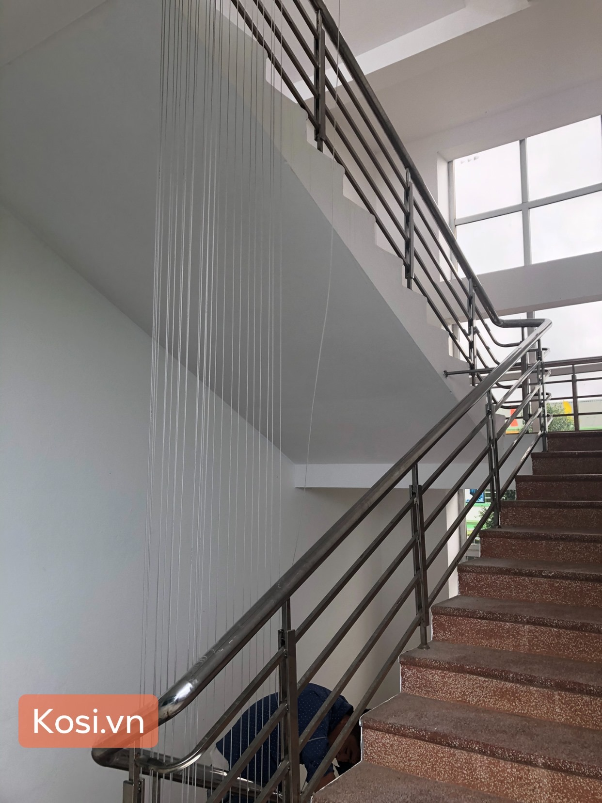Lắp đặt lưới an toàn ban công - cầu thang cho trường Phù Đổng Thanh Hóa 3