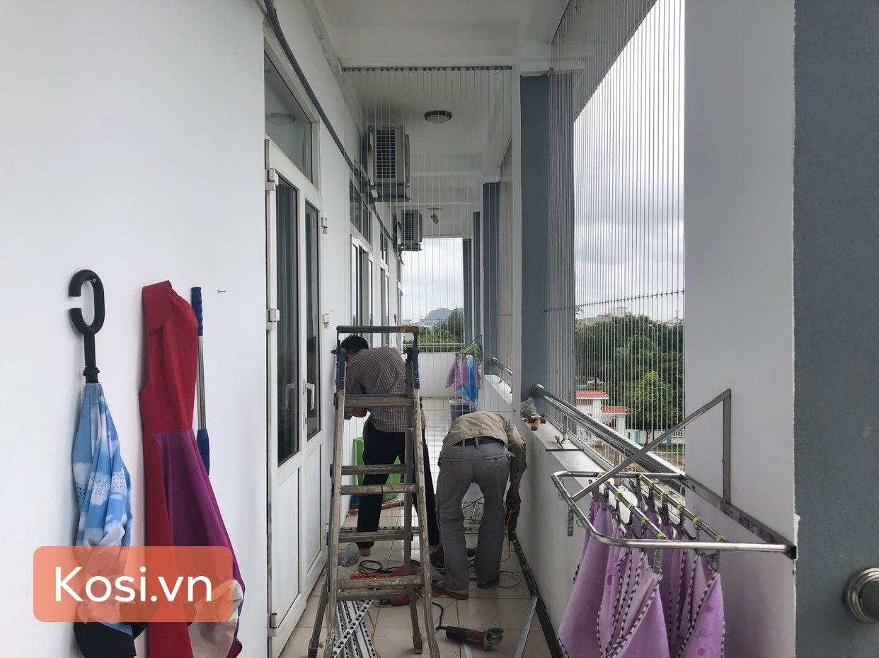 Lắp đặt lưới an toàn ban công - cầu thang cho trường Phù Đổng Thanh Hóa 4