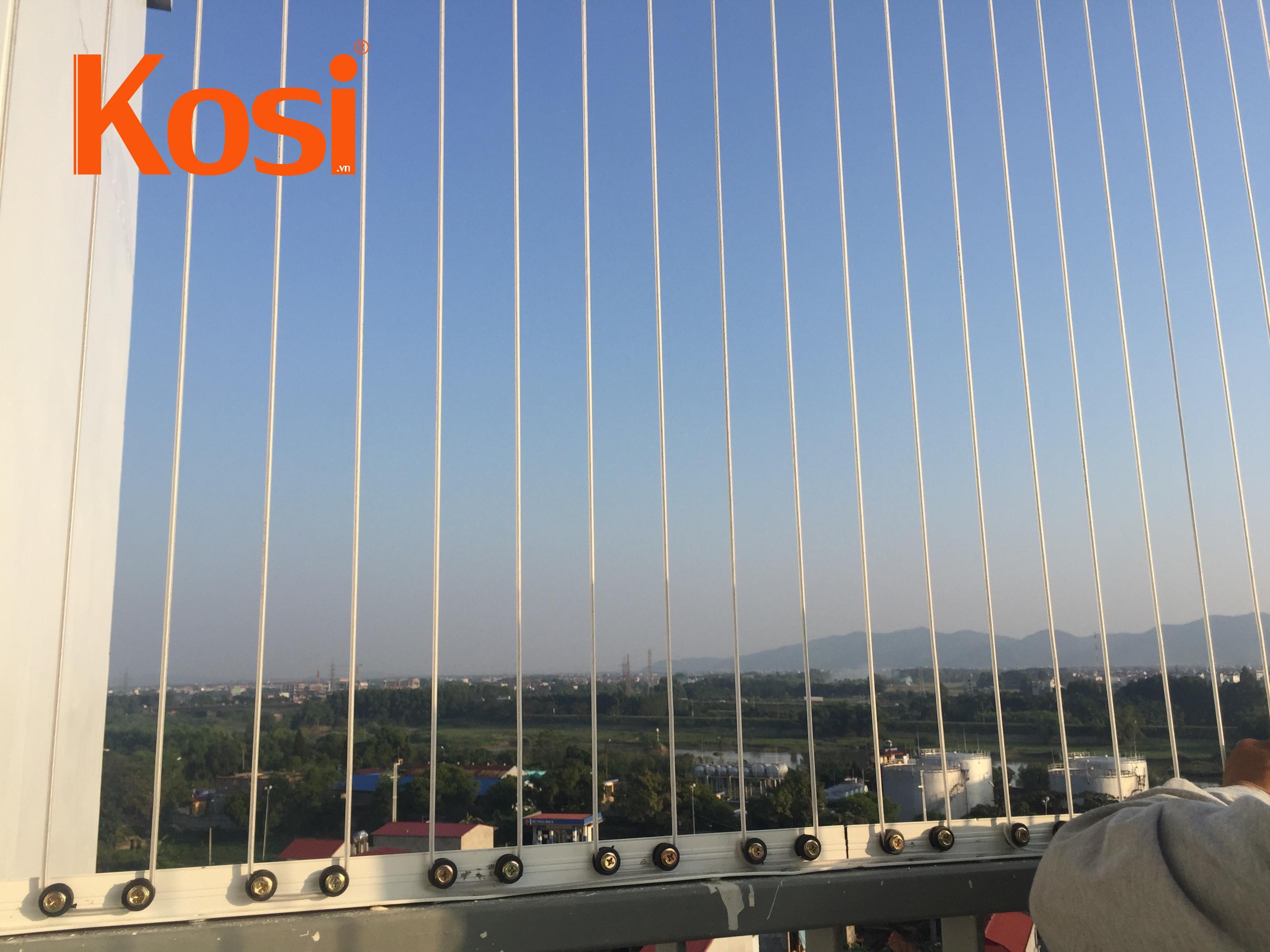 Một số hình ảnh lắp lưới an toàn ban công tại Hà Nội 2