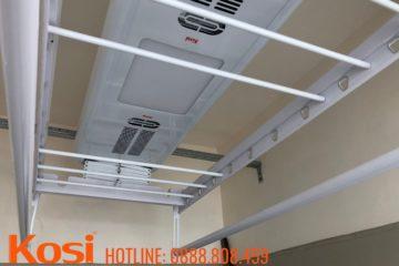 Lắp đặt giàn phơi điện tại chung cư