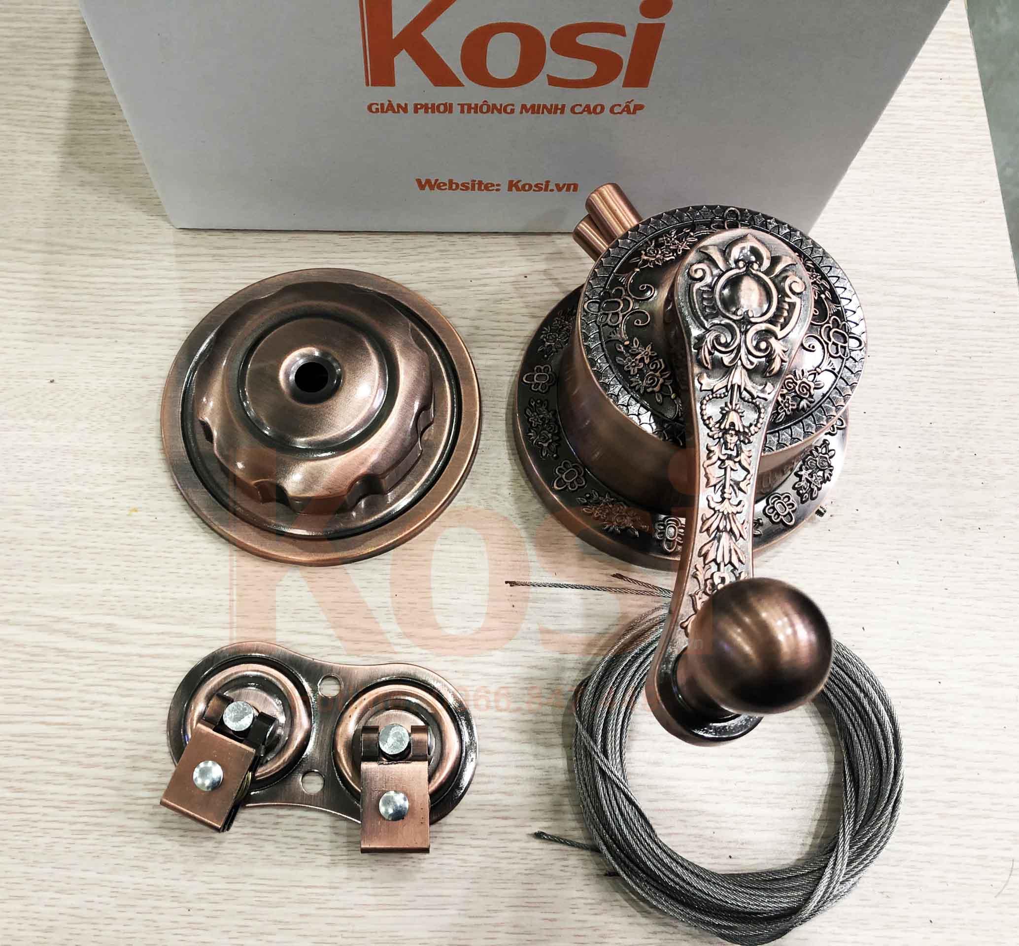 Lắp đặt giàn phơi Kosi KS09 cho A Phương ở Nam Từ Liêm 1
