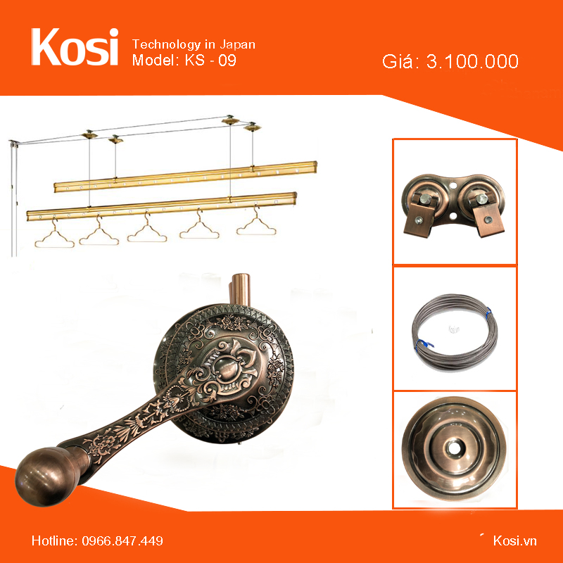 Giàn phơi Kosi - KS09 2